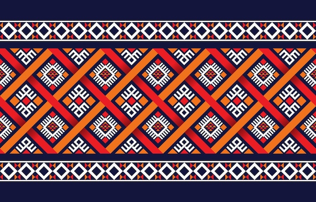 Ethnic boho pattern with geometric in bright colors. design for carpet, wallpaper, clothing, wrapping, batik, fabric,   embroidery style in ethnic themes.