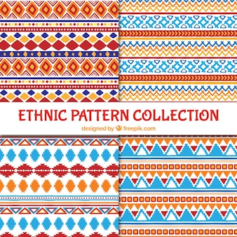 Ethnic colored patterns