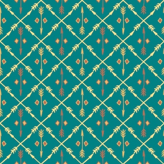 Ethnic colorful seamless pattern with arrows.