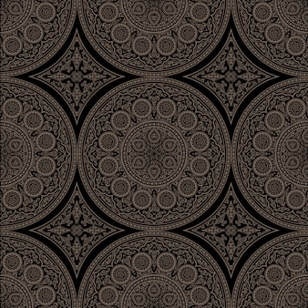 Ethnic complex seamless pattern with mandala - round ornament