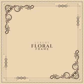Ethnic decorative floral frame