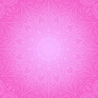 Ethnic decorative round element  pink soft background