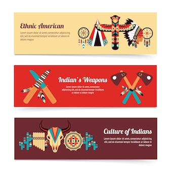 Ethnic design concept banners