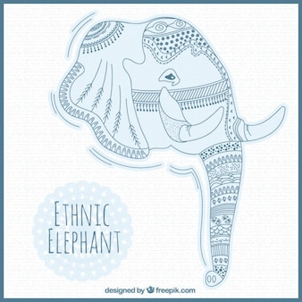 Ethnic elephant head