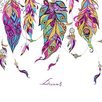 Ethnic Feathers Sketch