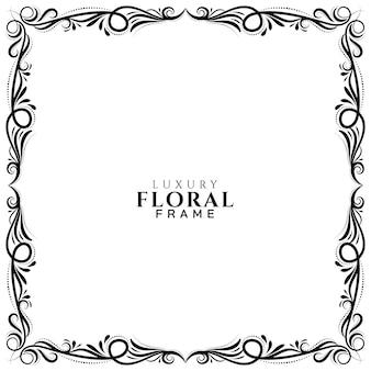 Этническая цветочная рамка дизайн фона