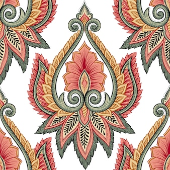 Ethnic floral pattern