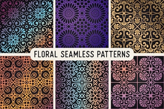 Ethnic floral seamless pattern abstract ornamental pattern