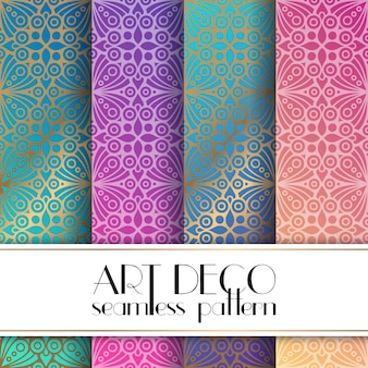 Ethnic floral seamless pattern colors