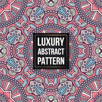 만다라와 민족 꽃 원활한 패턴