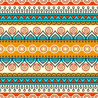 민족 꽃 원활한 패턴