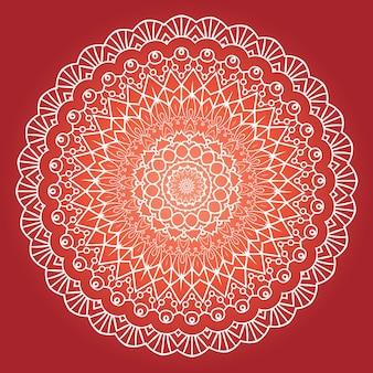 Этнический фрактальный дизайн мандалы для медитации