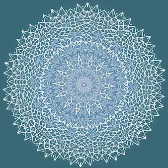 Этническая фрактальная медитация мандала вектор