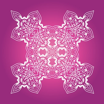 Ethnic fractal meditation mandala