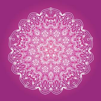 Мандала с этнической фрактальной медитацией