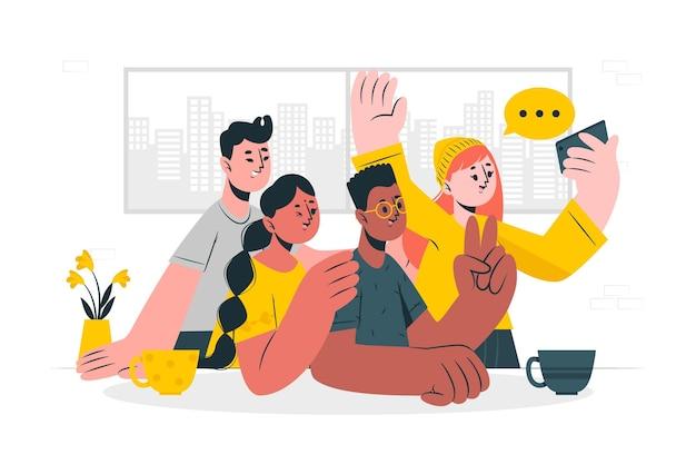 Иллюстрация концепции этнической дружбы