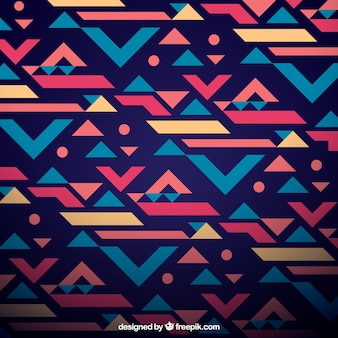 Ethnic geometric background
