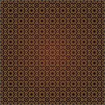 Ethnic geometric islamic seamless pattern background in classic gold vintage style