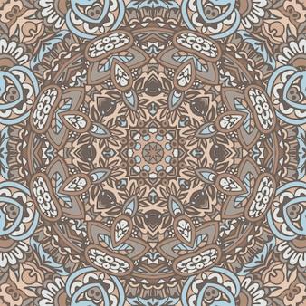 민족 기하학적 만다라 패턴
