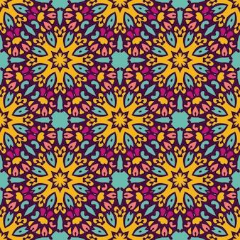 Этнический геометрический принт. красочный повторяющийся фоновой текстуры