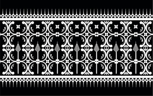 エスニックな幾何学模様のプリントパターンデザイン