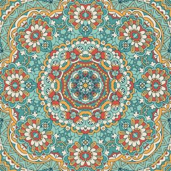 Этнический геометрический принт. винтажный повторяющийся фоновой текстуры.