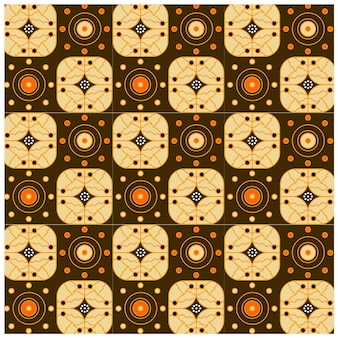 바틱 인도네시아에서 민족 기하학적 원활한 패턴 적응