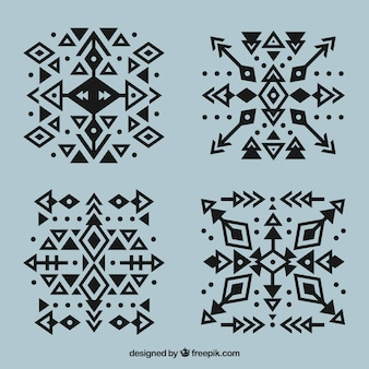 Ethnic geometric tattoo collection with arrows