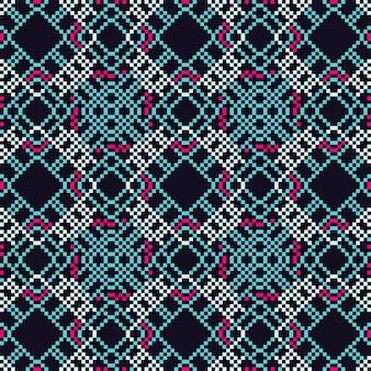 民族のグラフィックデザイン装飾抽象的なシームレスパターン