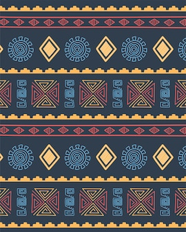 Ethnic handmade, background cultural tribal repeating pattern decoration vector illustration