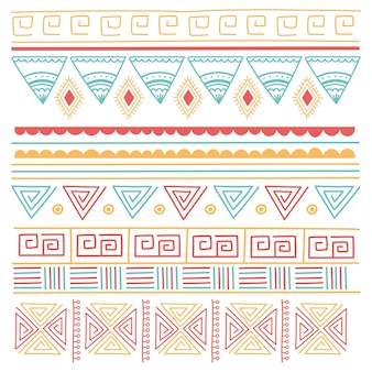 Ethnic handmade, tribal ornament style mosaic background vector illustration