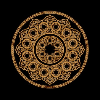 Ethnic henna mandala - round ornament pattern