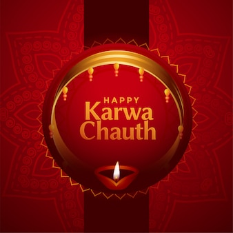 Ethnic indian karwa chauth festival card
