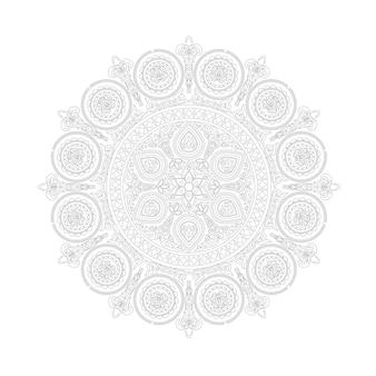 Ethnic lace mandala pattern in boho style on white