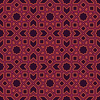 Ethnic line islamic pattern