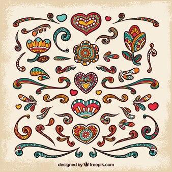 Ethnic love background