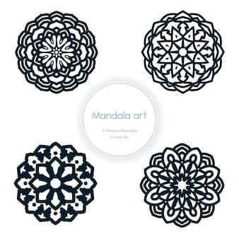 Ethnic mandala art design elements