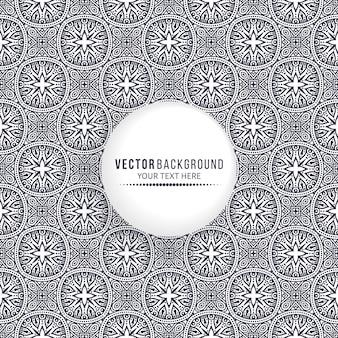 Ethnic mandala design background with blank circle frame