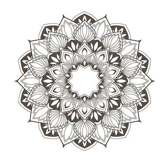 민족 만다라-꽃 스타일 오리엔탈 패턴