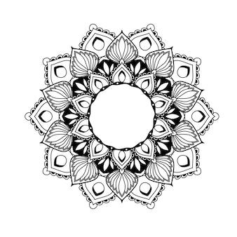 エスニックマンダラ-エスニックスタイルの花の幾何学模様