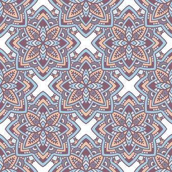 エスニック曼荼羅パターン。概要、ウェブデザインの民族曼荼羅ベクトルパターンの手描きイラスト
