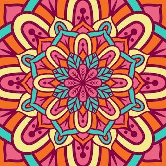Ethnic mandala round ornament pattern with colorful, mandala vector background, decorative pattern