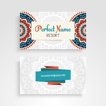 Ethnic mandala style business card