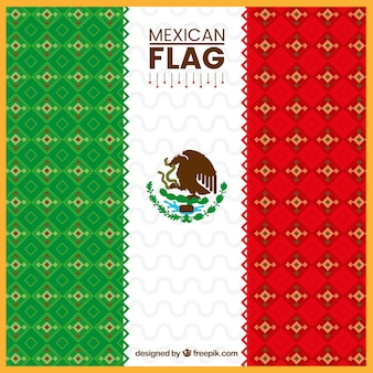 Ethnic mexican flag background
