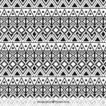 Ethnic monochrome pattern