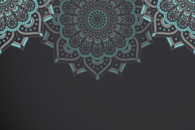 Ethnic motive mandala background