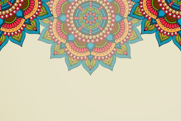 Ethnic motive mandala background