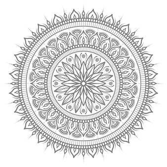 Ethnic oriental mandala illustration with round circular style for abstract and decorative concept