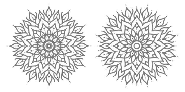 Иллюстрация мандалы в этническом восточном стиле для абстрактных и декоративных
