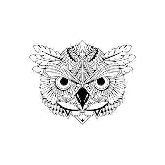 Ethnic owl head